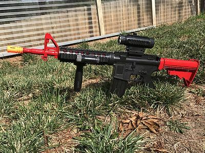 M4 Prop Costume Toy Assault Rifle With Removable Scope Torch Extendable Stock