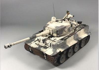 """Forces of Valor 1:32 German Tiger I Tank 502 """"Mammoth"""" Camp with Snow Camouflage"""