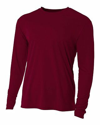 Baseball Undershirt Long Sleeve - Dark Maroon - A4 Brand - YOUTH