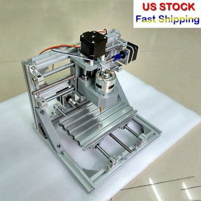 CNC 3-Axis Engraver DIY PCB PVC Milling Wood Carving Mini Engraving Machine US