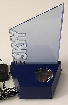 Blue Skyy Vodka LED Lighted Advertising Plastic Display Barware Electric Sign