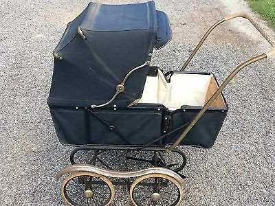 Vintage Bilt Rite Baby Carriage Buggy With Original Logo Plate