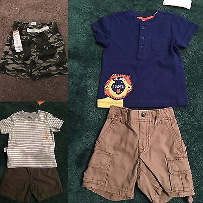 Baby boy Gymboree summer outfit/lot 6-12 months. Shorts and t-shirts. NWT
