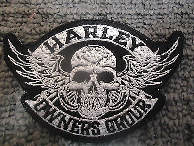 Small Harley Owners Group Hog Davidson Iron On Sew On Biker Patch Vest Jacket