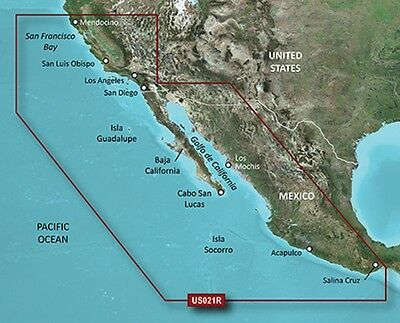 Garmin BlueChart g2 Vision HD VUS021R- California-Mexico - 010-C0722-00
