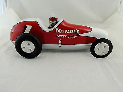 Vintage Custom Painted Tether Car (Big Moe's Speed Shop) Pusher Type Car