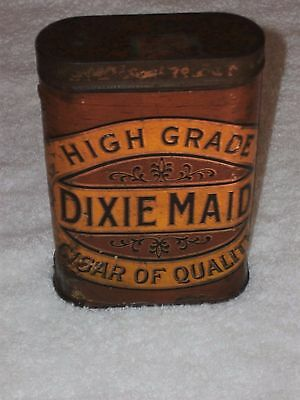 Vtg Antique Dixie Maid Cigar Tin Paper Label Tax Stamp 1920's Advertising Rare