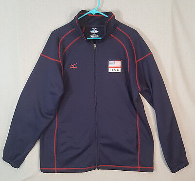 Mizuno Team Usa Volleyball Match Issue Jacket Sz L Large Adult