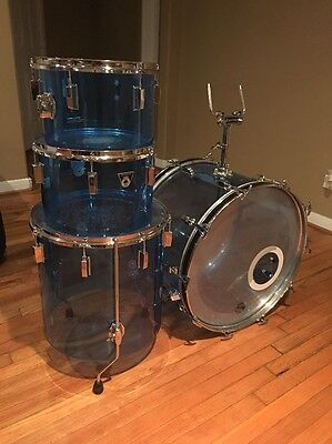 Ludwig Blue Vistalite Combo Drum Shell Pack Nice!!! 12 13 16 22
