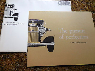 """Original 1959 Lincoln and Continental """"Pursuit of Perfection"""" catalog brochure"""