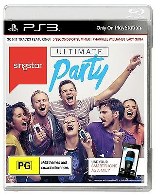PS3 Ultimate Party Singstar for Playstation 3 Singstar Brand New Sealed