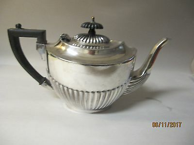 Sheffield Deco Silver Plate: Super Quality Half Fluted Georgian Style Teapot