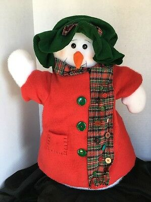 "Plush 18""  Snowman Floppy Hat And Coat"