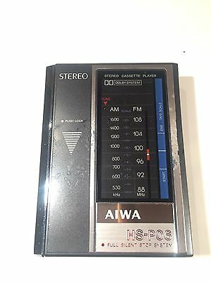 Vintage Aiwa Stereo Cassette Player HS-P06 & TU-01 AM/FM Tuner Pack Japan Tested