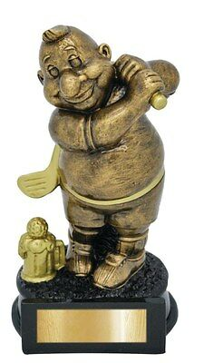 Golf Trophy Comic Novelty Award Fathers Day 170mm Engraved FREE