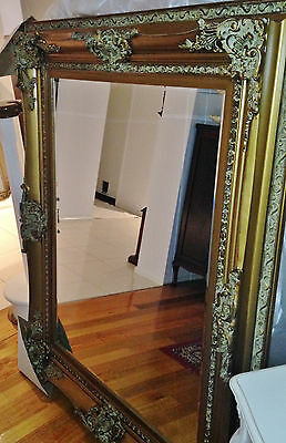 Large Wall Mirror,  French Baroque Era  Solid Timber Frame