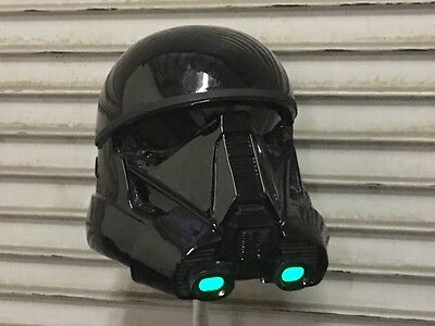 Star Wars Rogue one Death Trooper helmet - light up mouth piece - adult size