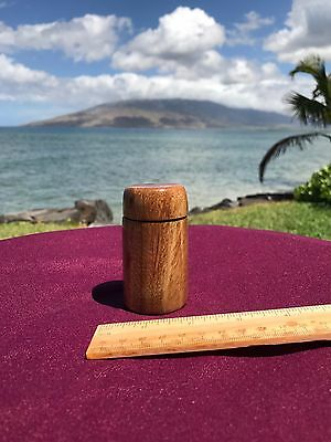 Hawaiian Tamarind Wood Box (Needle Case, Ètui, Pill Box, Match Safe)