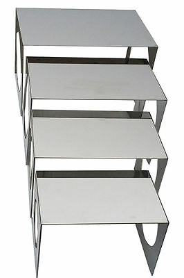 Stainless Steel 4 Steps Food Display Shelf  Commercial Kitchen Equipment