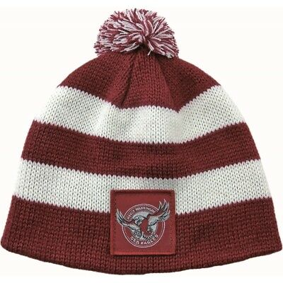 Manly Sea Eagles Official NRL Chunky Knit Baby Infant Beanie