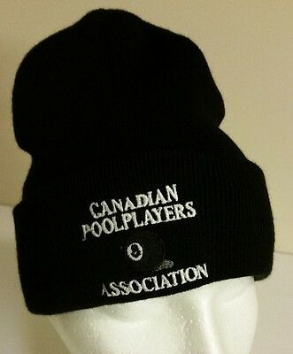 Pool Players Association Of Canada Billiards Beanie Toque Hat Eight Ball Snooker