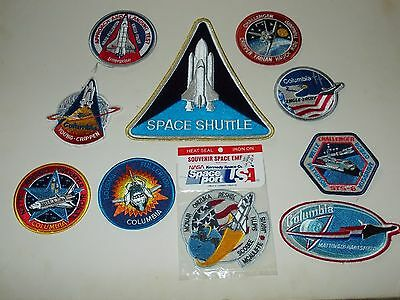 Lot of 10 NASA Space Shuttle Patches Challenger Columbia Enterprise New