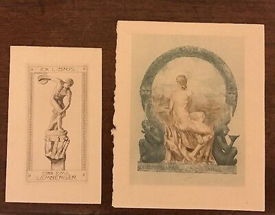 Art Nouveau Antique Prints Male Nude Naked Men