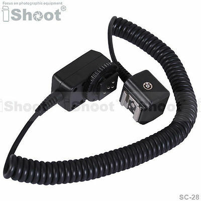 2.5m Flash I-TTL Off-Camera Shoe Cord/Cable wt PC SYNC Port fr Nikon SC-28/SC-29