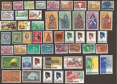 Indonesia. Old & New stamps from misc albums. What you see is what you get!