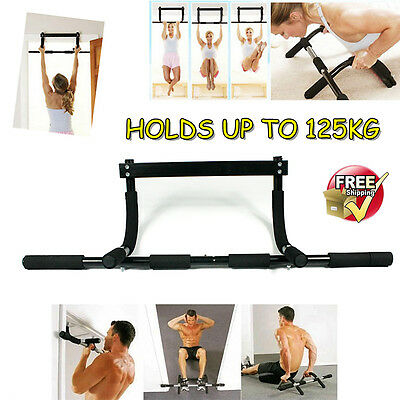 New Home Door Chin Up Bar Workout Exercise Pull Up Doorway Fitness Gym Portable