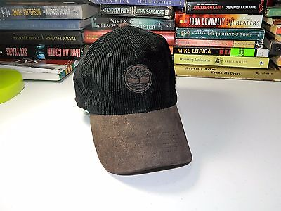 MEN'S Timberland The Boot Company Hat Cap Adjustable CORDUROY LEATHER Strap
