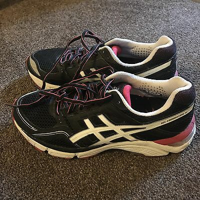 Womens Asics Gel Foundation 11 (Us Size 7.5) Black And Pink