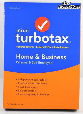 TurboTax Home & Business 2016 Tax Software Federal & State (WIN/MAC)