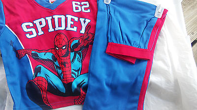 Marvel Spiderman 2 PC PAJAMA Set Boy's Size M (8) Blue / Red. NEW WITH TAGS!
