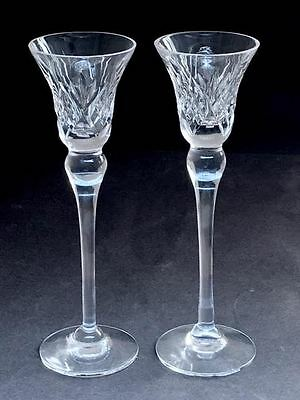 Vintage Pair Of Vintage Crystal Candle Sticks - Lovely Condition