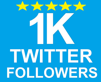 1000+ Twitter HQ Follower Fast Service!