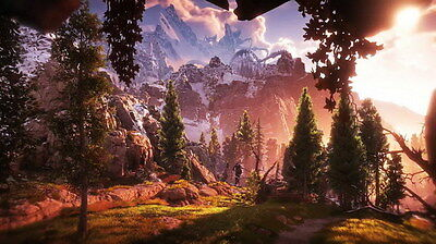 "008 Horizon Zero Dawn - Aloy Adventure Role Play Game 24""x14"" Poster"