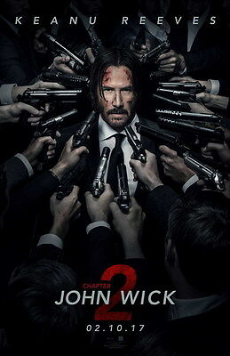 """011 John Wick Chapter 2 - Keanu Reeves 2017 Movie 14""""x21"""" Poster"""