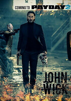 """012 John Wick Chapter 2 - Keanu Reeves 2017 Movie 14""""x19"""" Poster"""