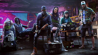 """060 WATCH DOGS 2 - Fighting Hot TV Game 24""""x14"""" Poster"""