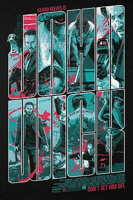 """006 John Wick Chapter 2 - Keanu Reeves 2017 Movie 14""""x21"""" Poster"""