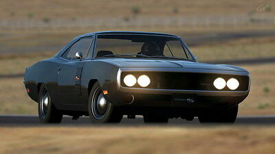 """002 Dodge Charger 1970 - Fast Furious 7 Muscle Race Car 42""""x24"""" Poster"""