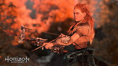 "004 Horizon Zero Dawn - Aloy Adventure Role Play Game 42""x24"" Poster"