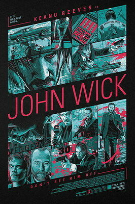 "005 John Wick Chapter 2 - Keanu Reeves 2017 Movie 24""x36"" Poster"