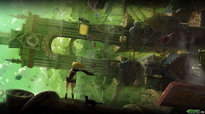 "003 Gravity Rush 2 - Action Fight Game 42""x24"" Poster"