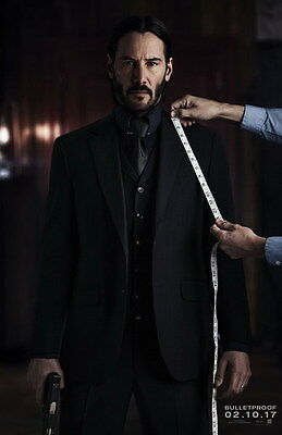 "010 John Wick Chapter 2 - Keanu Reeves 2017 Movie 24""x37"" Poster"