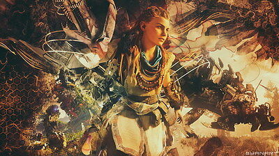 "015 Horizon Zero Dawn - Aloy Adventure Role Play Game 42""x24"" Poster"