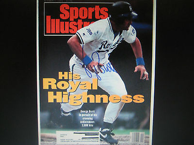 GEORGE BRETT KC Royals Autographed Signed Sports Illustrated Mag Cover w/CO