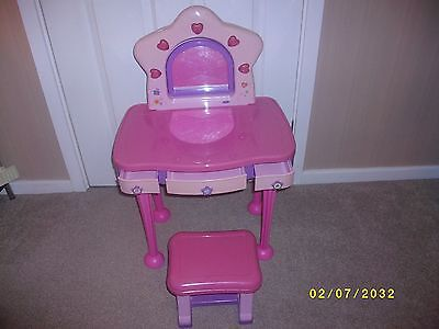Toy Pink Dressing Table and Stool
