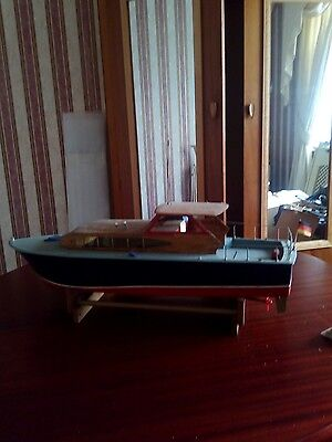 Model boat and stand with radio control